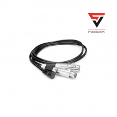 HOSA MIC CABLE DUAL XLR3F TO RIGHT-ANGLE 3.5MM TRS
