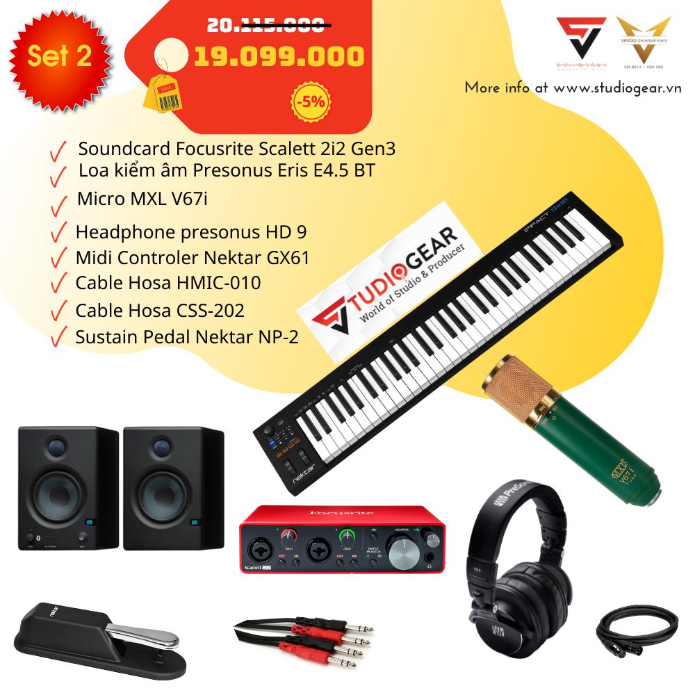 Combo thiết bị sản xuất âm nhạc - Thu Âm - Studiogear Set 2